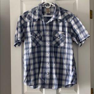 Lucky short sleeve plaid shirt